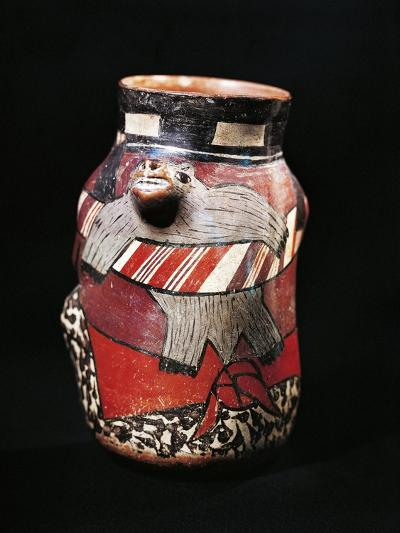 Vase Depicting Hunter Carrying Captured Animal in Shawl--Giclee Print