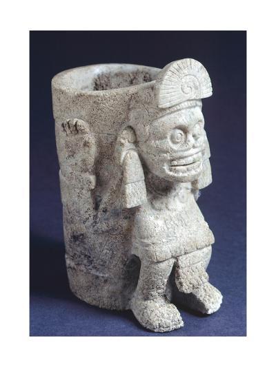 Vase Depicting Mictlantecuhtli--Giclee Print