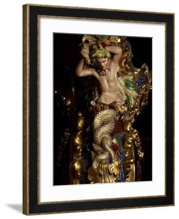 Vase, Detail of Interior of Hercules Hall, Royal Palace of Naples--Framed Photographic Print