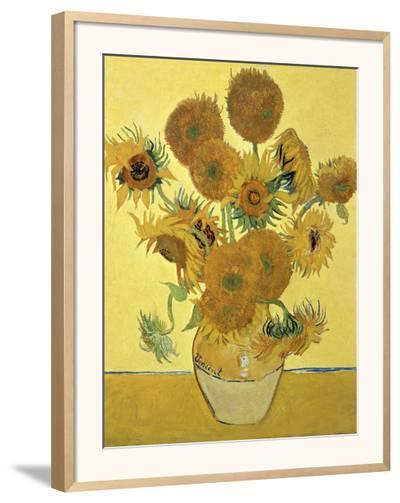 Vase of Fifteen Sunflowers, c.1888-Vincent van Gogh-Framed Giclee Print