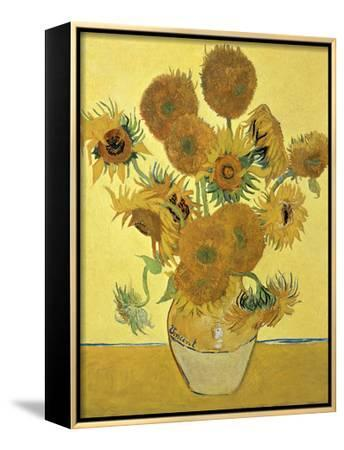 Vase of Fifteen Sunflowers, c.1888-Vincent van Gogh-Framed Canvas Print