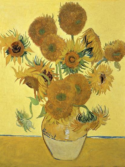 Vase of Fifteen Sunflowers, c.1888-Vincent van Gogh-Premium Giclee Print
