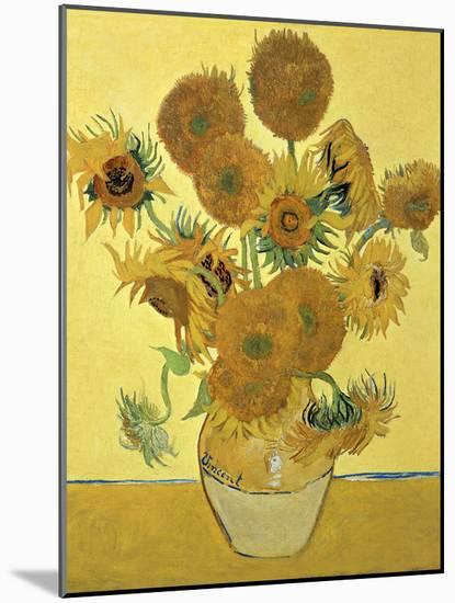 Vase of Fifteen Sunflowers, c.1888-Vincent van Gogh-Mounted Giclee Print
