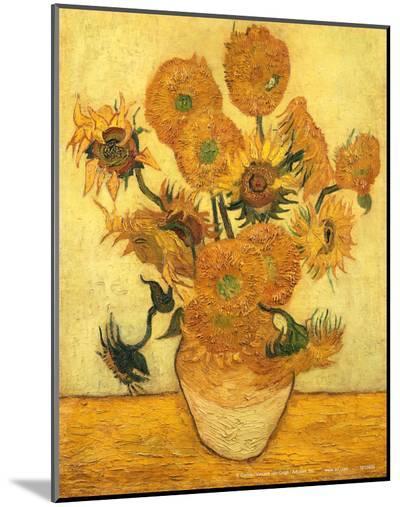 Vase of Fifteen Sunflowers, c.1889-Vincent van Gogh-Mounted Print