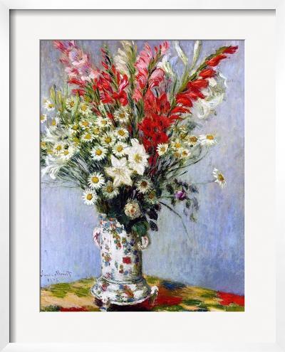 Vase of Flowers, 1878-Claude Monet-Framed Giclee Print