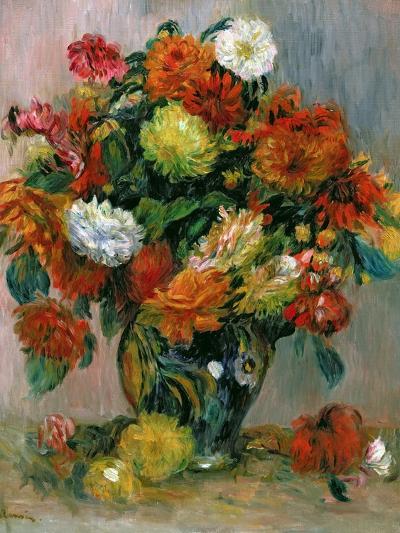 Vase of Flowers, C.1884-Pierre-Auguste Renoir-Giclee Print