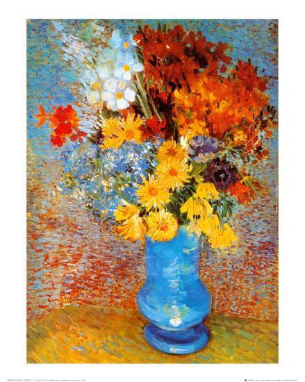 Vase Of Flowers C1887 Art Print By Vincent Van Gogh Art