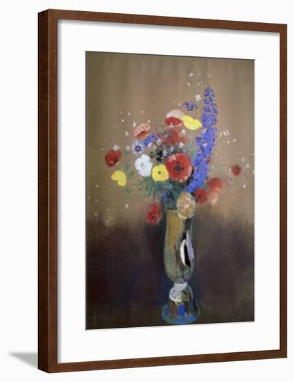 Vase of Flowers from a Field-Odilon Redon-Framed Giclee Print