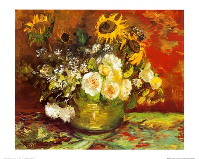 Vase of Flowers-Vincent van Gogh-Art Print
