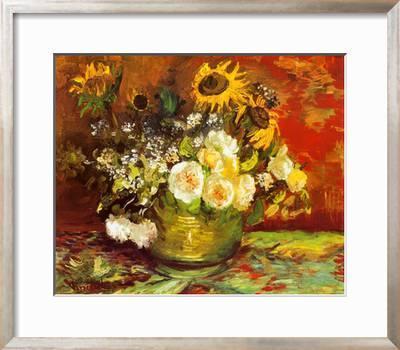 Vase Of Flowers Art Print Vincent Van Gogh Art Com