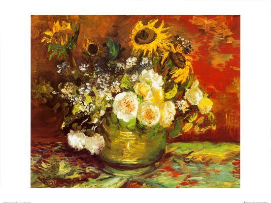 Vase Of Flowers Art Print By Vincent Van Gogh Art