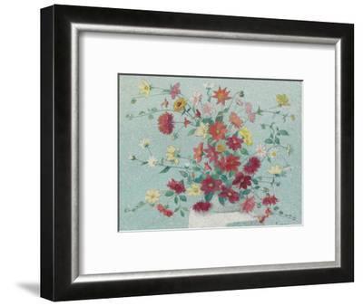 Vase of Flowers-Achille Lauge-Framed Premium Giclee Print