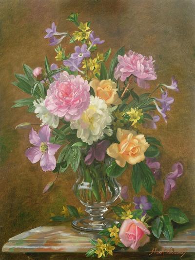 Vase of Flowers-Albert Williams-Giclee Print