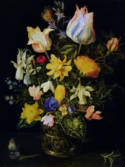 Vase of Flowers-Jan Brueghel the Elder-Giclee Print