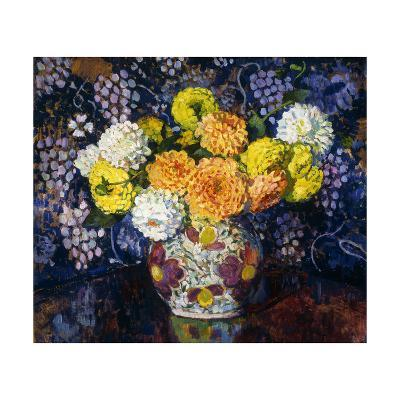 Vase of Flowers-Theo Rysselberghe-Giclee Print