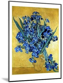 Vase of Irises Against a Yellow Background, c.1890-Vincent van Gogh-Mounted Premium Giclee Print