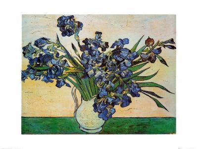 Vase of Irises, c.1890-Vincent van Gogh-Art Print
