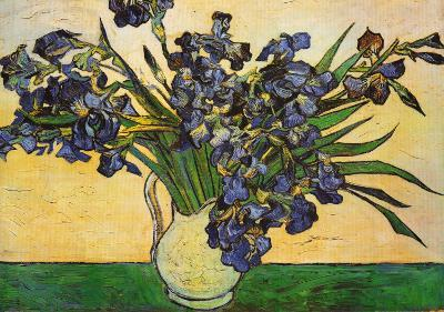 Vase of Irises, c.1890-Vincent van Gogh-Art Print