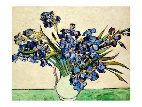 Vase of Irises, c.1890-Vincent van Gogh-Giclee Print