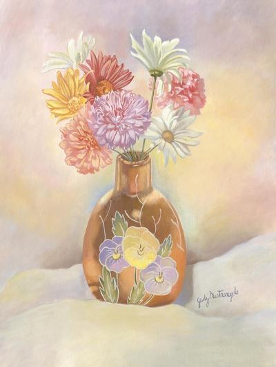 Vase of Mums-Judy Mastrangelo-Giclee Print