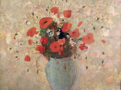 Vase of Poppies-Odilon Redon-Giclee Print
