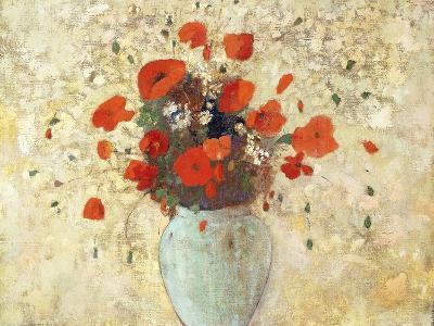 Vase of Poppies-Odilon Redon-Giclee Print