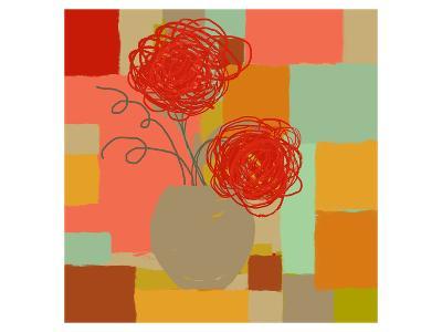 Vase of Red Flowers I-Yashna-Art Print