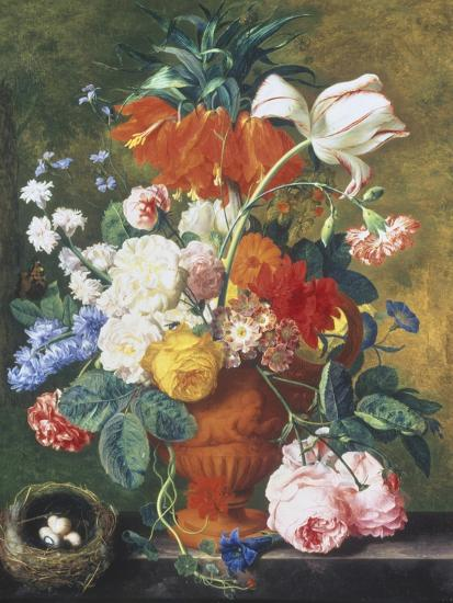 fa4277a3 Vase of Rich Summer Flowers Giclee Print by Jan van Huysum   Art.com