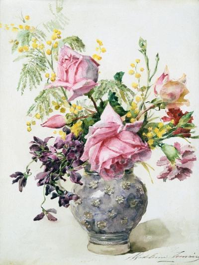 Vase of Roses, C1865-1928-Madeleine Jeanne Lemaire-Giclee Print