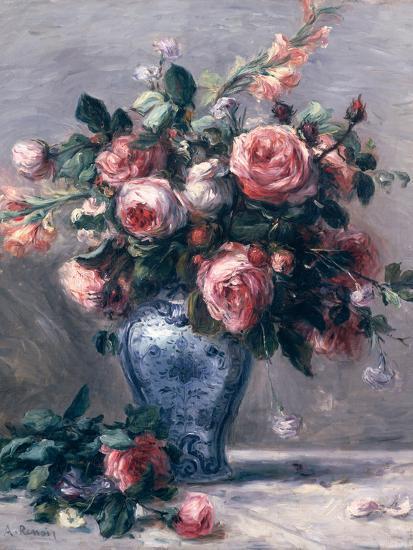 Vase of Roses-Pierre-Auguste Renoir-Premium Giclee Print