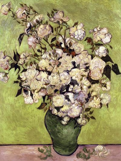Vase of Roses-Vincent van Gogh-Giclee Print