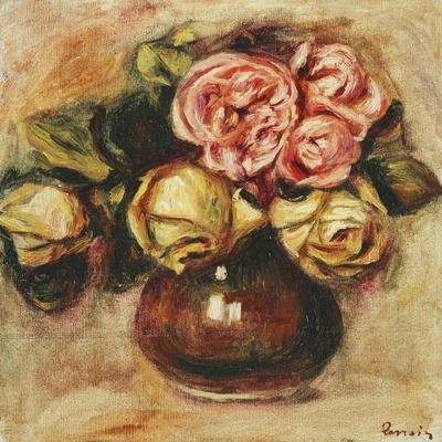 Vase of Roses-Pierre-Auguste Renoir-Giclee Print