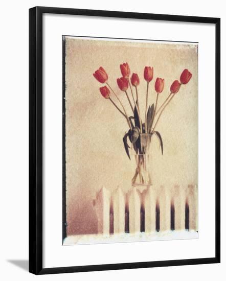 Vase of Tulips on a Radiator-Natalie Fobes-Framed Photographic Print