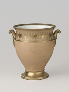 """Vase ovoïde sur piédouche """"Nankin"""""""
