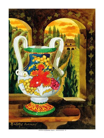 Vase with a View - Tuscany Italy - Italian Villa-Robin Wethe Altman-Premium Giclee Print