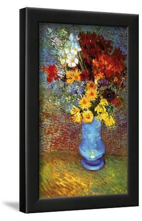 Vase with Anemone-Vincent van Gogh-Lamina Framed Art Print
