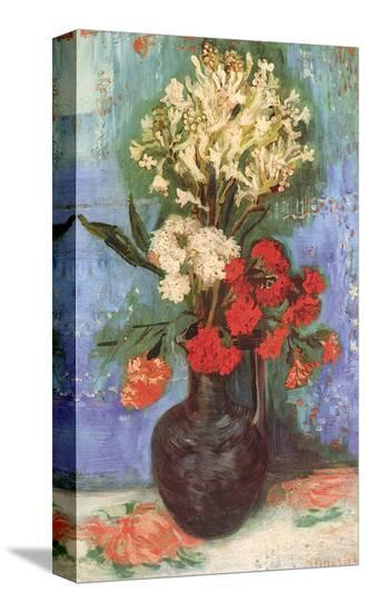 Vase with Carnations and Other Flowers, c.1886-Vincent van Gogh-Stretched Canvas Print