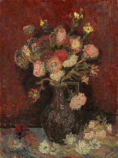 Vase with Chinese Asters and Gladioli, 1886-Vincent van Gogh-Giclee Print