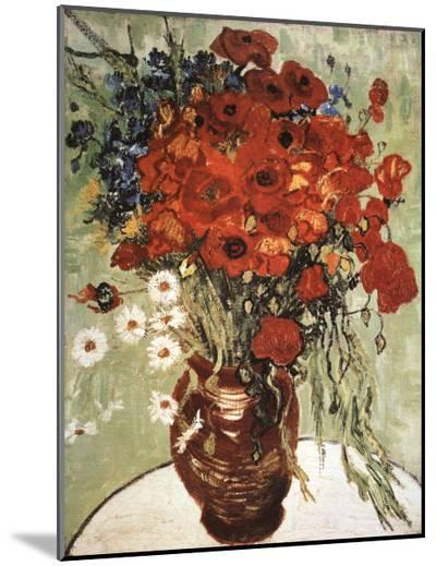 Vase with Daisies and Poppies-Vincent van Gogh-Mounted Print