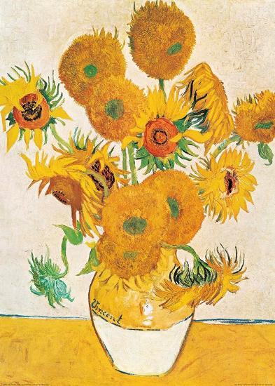 Vase with Fifteen Sunflowers-Vincent van Gogh-Art Print