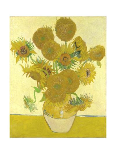 Vase with Fifteen Sunflowers-Vincent van Gogh-Giclee Print