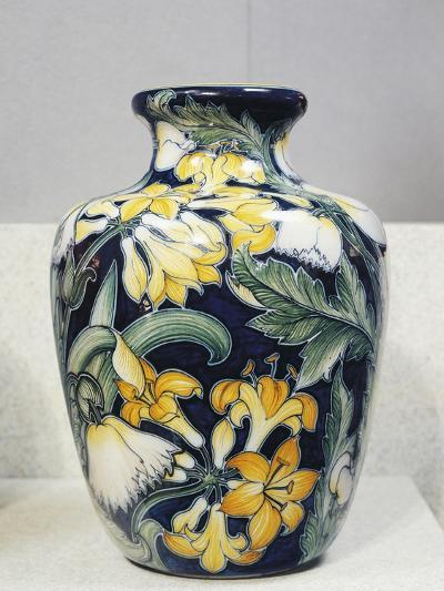 Vase with Floral Decorations, Symbolist Design Inspired by English Models-Galileo Chini-Giclee Print