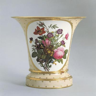 Vase with Floral Decorations--Giclee Print