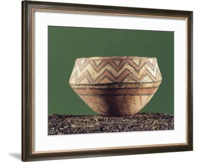 Vase with Geometric Decorations--Framed Giclee Print