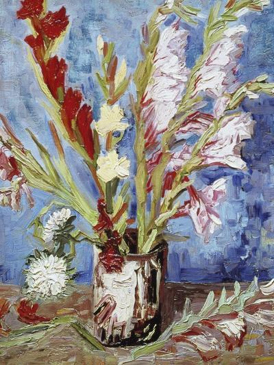 Vase with Gladioli-Vincent van Gogh-Giclee Print