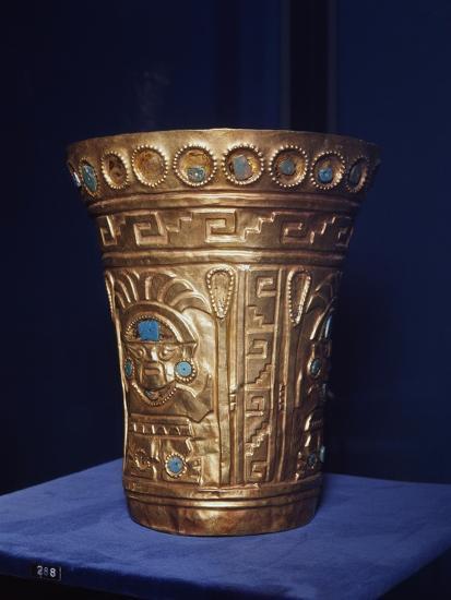 Vase with Human Face, Chimu Culture, Pre-Columbian Era, Peru, 14th-15th Century--Giclee Print