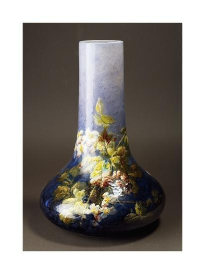 Vase with Impressionist-Style Floral Decorations, Circa 1880-Albert Boue and Georges Delvaux-Giclee Print