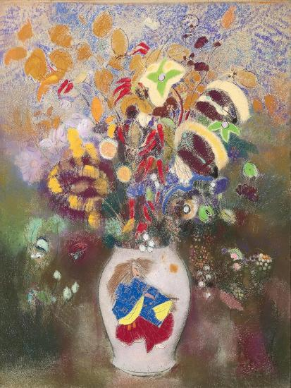 Vase with Japanese Warrior, 1905-1908-Odilon Redon-Giclee Print