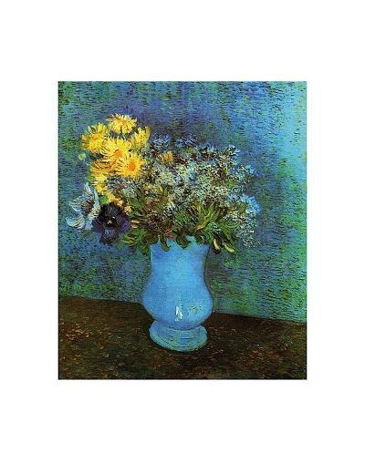 Vase with Lilacs, Daisies and Anemone-Vincent van Gogh-Art Print