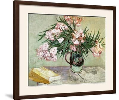 Vase with Oleanders and Books, c.1888-Vincent van Gogh-Framed Giclee Print